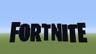BIGGEST Fortnite Pixel-art - [Minecraft]