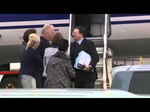 Spitzen von EU in Belfast zu G8-Gipfel eingetroffen