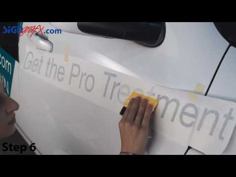How to Install Vinyl Lettering on a Vehicle