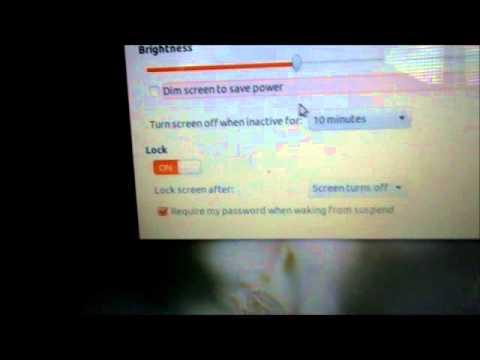 Changing the Sleep settings on Ubuntu