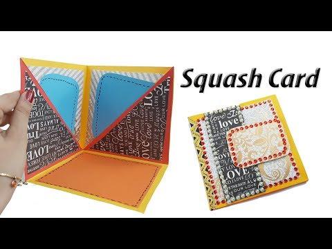 DIY Squash Card Tutorial | How to Make Squash Card for Scrapbook | JK Arts 1372