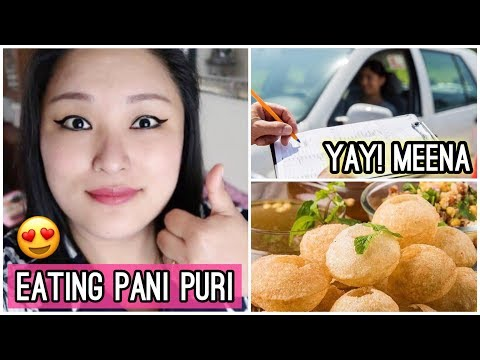 Eating Pani Puri | Yay! She Passed the Driving Test - Congratulations! - Day #131