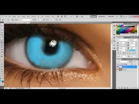 simple way to change color of eyes using adobe photoshop cs5