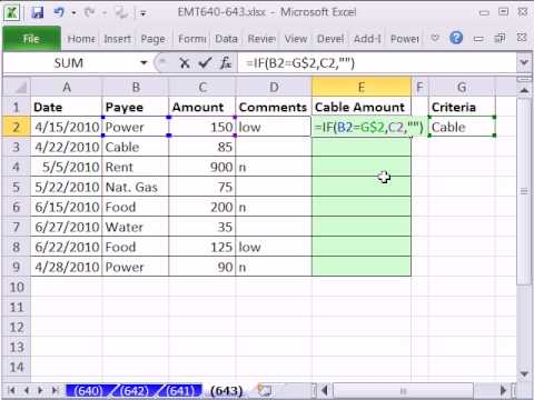 Excel Magic Trick 643: IF Function to Pull Data From A Different Column