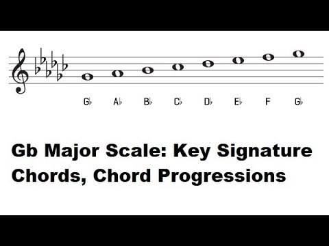 The Key of Gb Major - G Flat Major Scale, Key Signature, Piano Chords and Common Chord Progressions