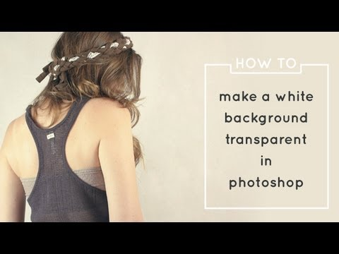 How to Make a White Background Transparent in Photoshop For Saving Single PNGs
