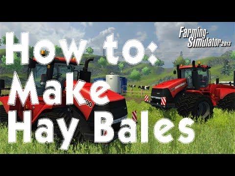 Farming Simulator 2013 How to: Make Hay Bales