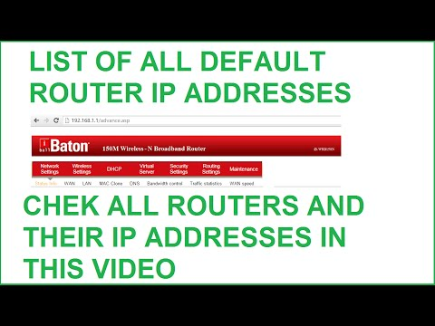 List of Default Router IP Addresses - Airlink,Asus,Belkin And More