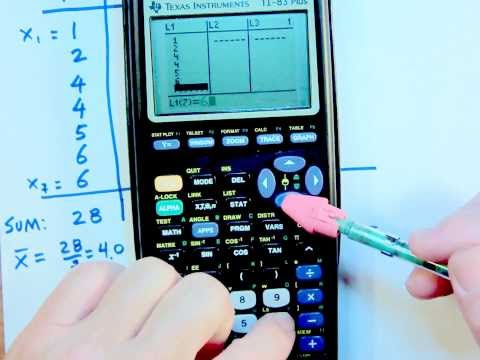 COMPUTING SAMPLE STANDARD DEVIATION USING TI 83 PLUS