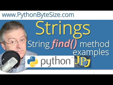 Python find() method examples