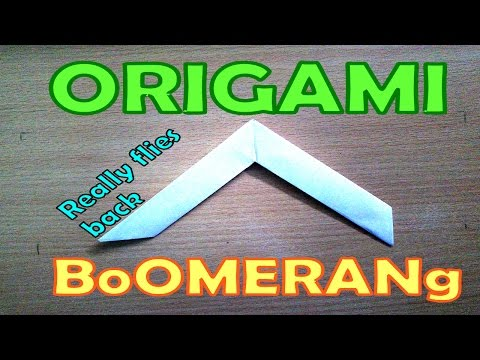 How to make paper boomerang - Origami tutorials