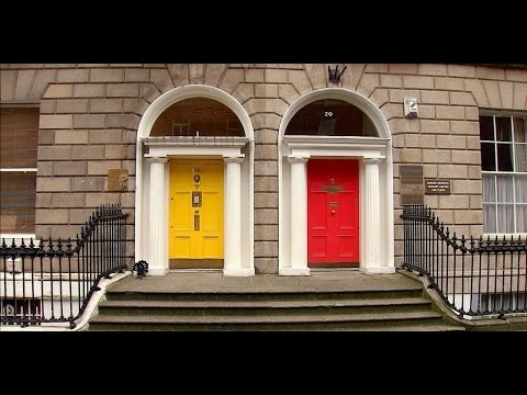 Dublin, Ireland: St. Stephen's Green and Georgian Homes