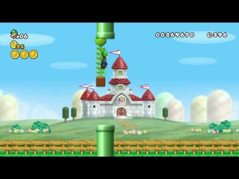 New Super Mario Bros Wii Custom Level - Quest To The Skies