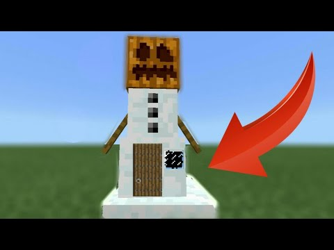 How To Live Inside A Snow Golem In Minecraft - Tutorial (Pocket edition, Xbox, Ps4/3, Wii U, switch)