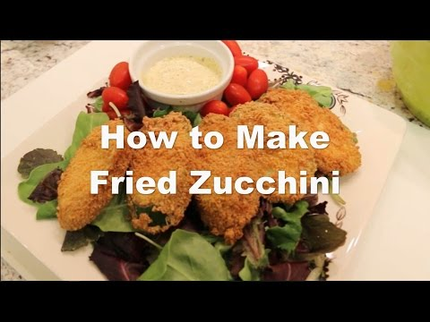 How to make fried zucchini squash in a deep fryer recipe