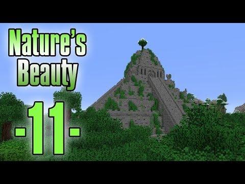 Dansk Minecraft - Nature's Beauty #11 - Pyramide raid og item sortering (HD)