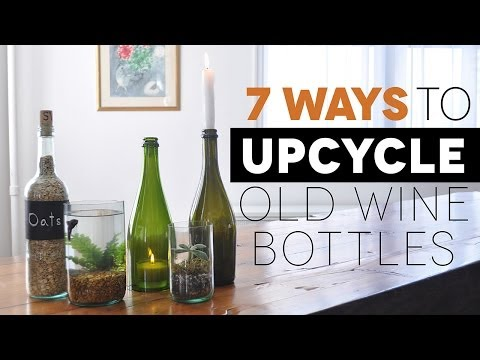 7 Awesome Ways to Upcycle Old Wine Bottles