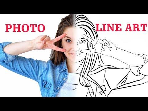 Convert Photo to Line Portrait Vector - Tutorial - Inkscape