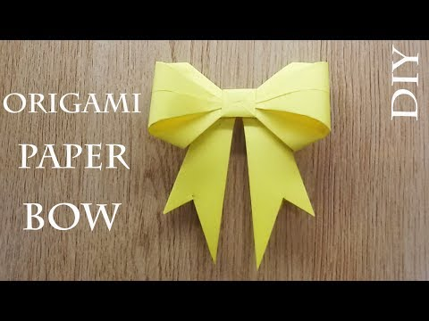 How to make Origami Paper Gift Bow at home,  Origami Instructions Easy