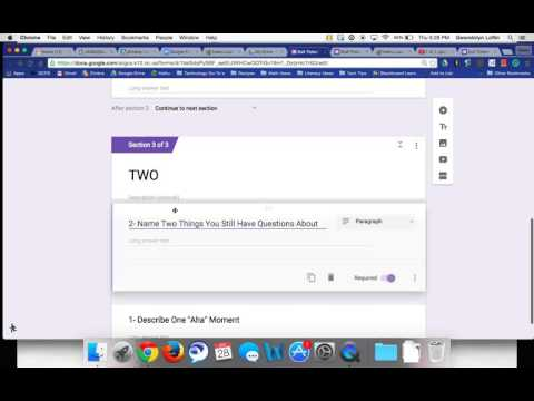 Adding Sections and Titles in Google Forms