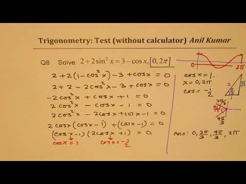 Trigonometric Equations and Identities Compound Angle IB Test Paper 2 MCV4U