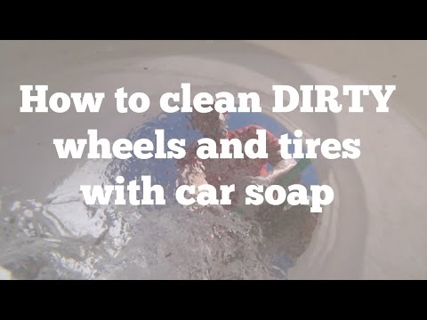 Cleaning Dirty Wheels and Tires with CAR WASH Soap- Starting a Car Detailing Business