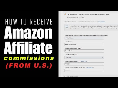 Receive Amazon Affiliate Payment using Payoneer (2017) Get Paid US Amazon.com Affiliate Commissions