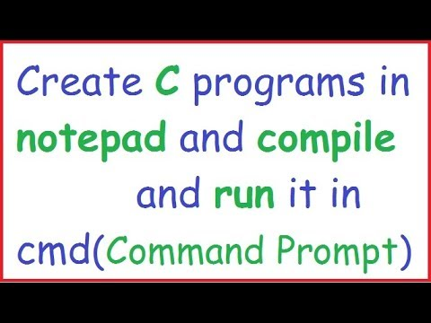how to compile and run c program in command prompt in hindi by programming desire
