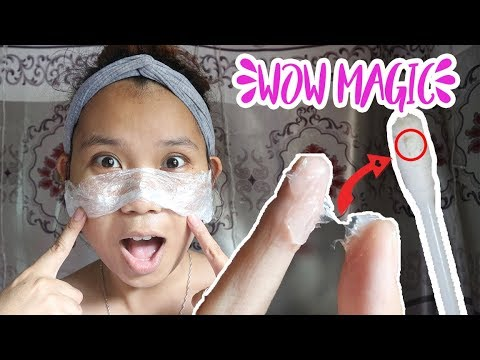 How to Remove Blackheads using Vaseline and Plastic Wrap ONLY