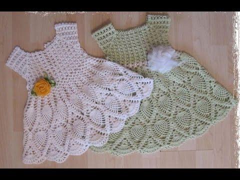 Crochet Baby Dress Free Crochet Patterns 510 Pineapple Stitch