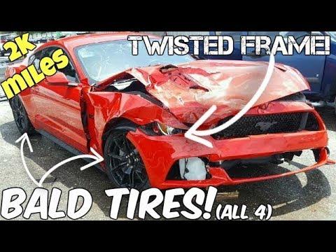 NEW Mustang GT Destroyed in 2k Miles! MAJOR Frame Damage!