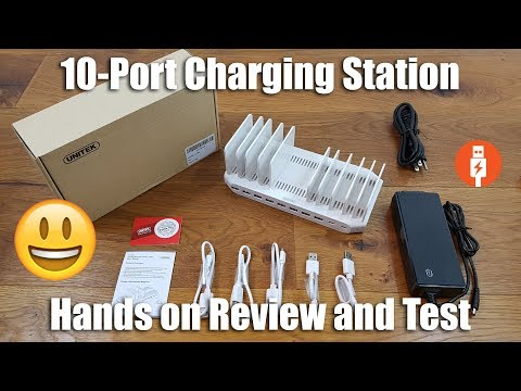 Unitek 10-Port USB C PD Charging Station [Hands on Review and Test]