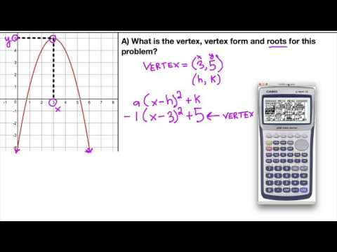 Finding Vertex Form from a Graph (Regents New York Algebra Common Core)