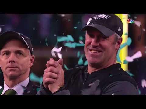 Philadelphia Eagles Super Bowl LII Lombardi Trophy Presentation | Super Bowl 52 Highlights