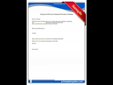 Free printable Employment Records Employee Permission to Release Forms