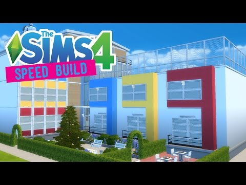 The Sims 4 -Speed Build- NEWCREST HIGH SCHOOL!