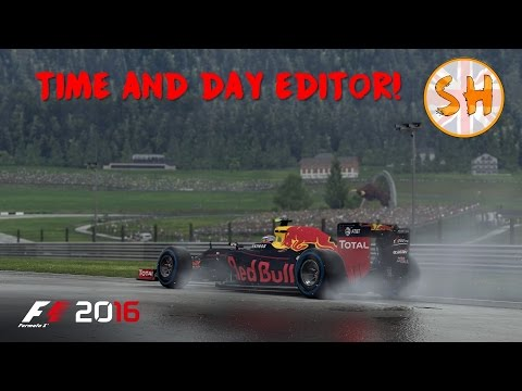 F1 2016 GAME: TIME OF DAY & WEATHER EDITOR - SINGAPORE!