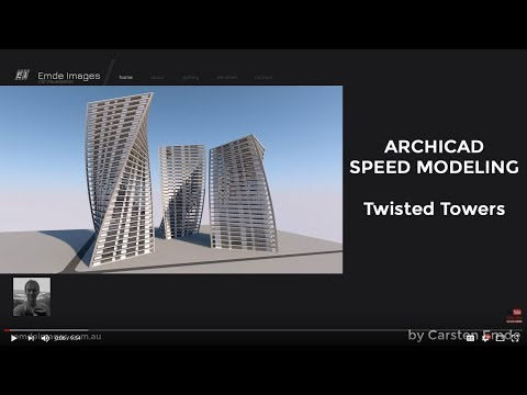 Speed  Modeling Twisted Tower
