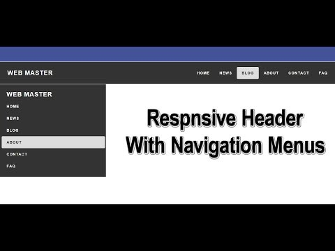 Responsive Header with Navigation Bar | HTML and CSS