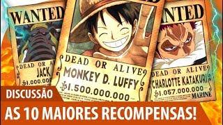 As 10 Maiores Recompensas De One Piece! - Discussão