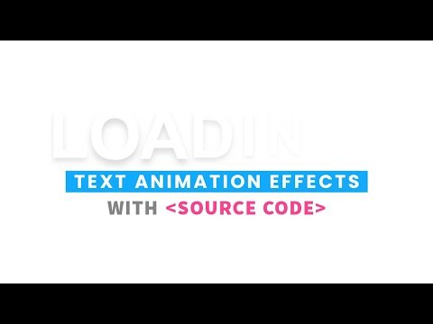 Loading Text Animation Effects   CSS Text Shadow