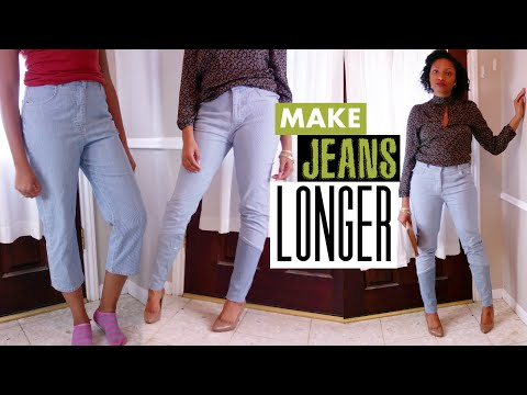 How to Make Jeans Longer the Cool Way! | Easy Sewing | BlueprintDIY