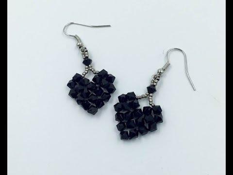 Easy Heart earrings Tutorial