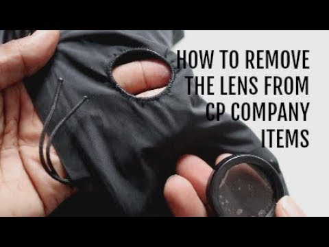 HOW TO EASILY REMOVE YOUR CP COMPANY LENS | Quick Guide