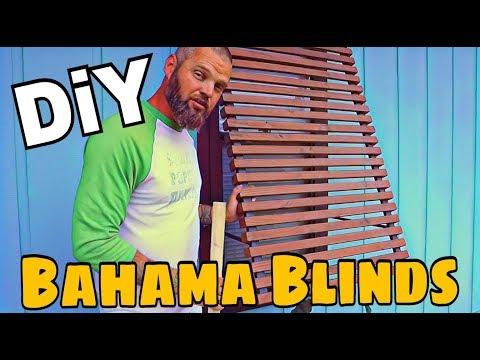 DIY Bahama Blinds / Rain Screens