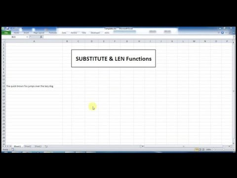 SUBSTITUTE and LEN Functions