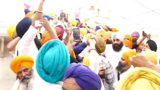 Spirited Protest against Gurbachan Singh during Operation Blue Star Ceremony