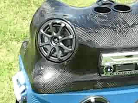 Custom Radio Cooler out of Carbon Fiber - Ice Chest Radio for tubing the River