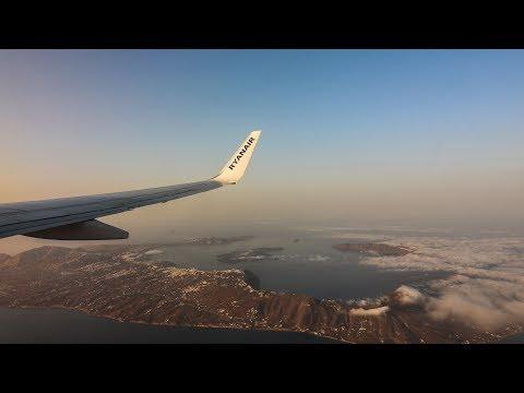 Athens to Santorini Flying Ryanair