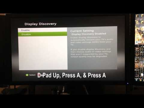 Xbox 360 - How to turn Display Discovery Back on (New Dashboard)
